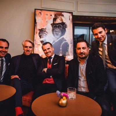 Dr. Dominik Pförringer (Facharzt für Orthopädie und Unfallchirurgie am Klinikum Rechts der Isar), Tom Junkersdorf (Chefredakteur GQ), Jens Ciliax (Lab Series & Aramis and Designer Fragrances), Alex Gernandt (Chefredakteur RIZE) und Adem Schuster (Head of Marketing Hearthouse)